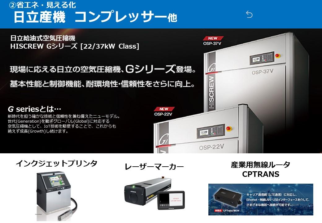 日立 コンプレッサー HISCREW Gシリーズ